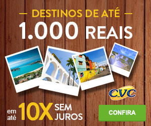 CVC - Destinos 1000 Reais - Finance one