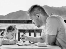 imagem de um pai e uma filha juntos