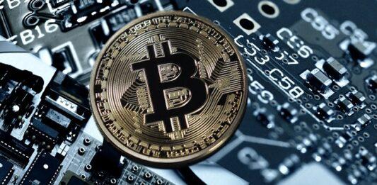 imagem de uma moeda de Bitcoin