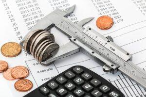 Controle do orçamento para consórcio de dinheiro
