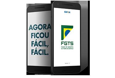 Celular mostrando o app do FGTS