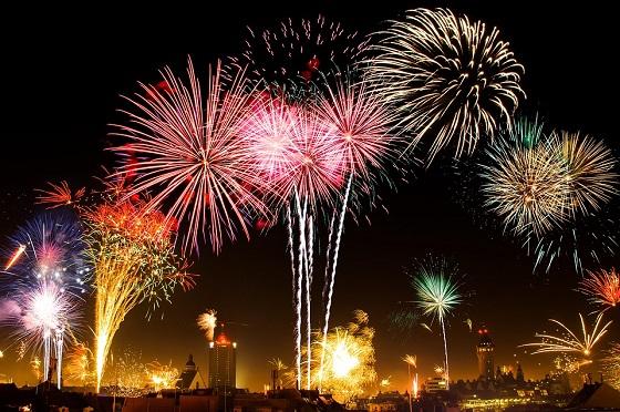 Fogos de artifício no Reveillon