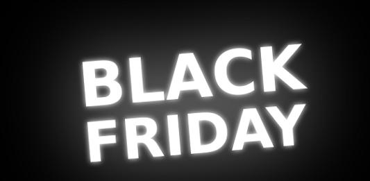 painel escrito Black Friday