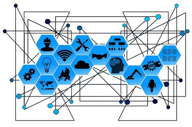 diversos ícones se conectando