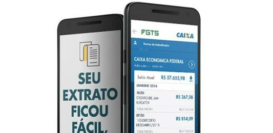imagem de dois celulares com a tela da caixa