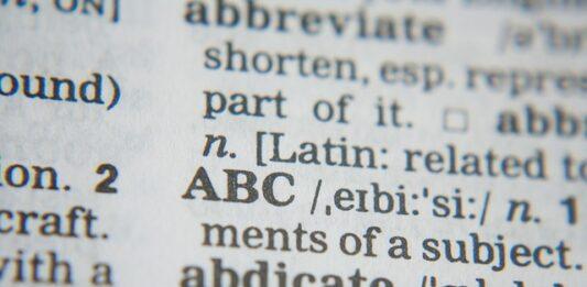 parte de um dicionário