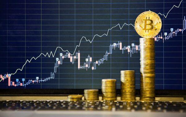 moedas digitais enfileiradas