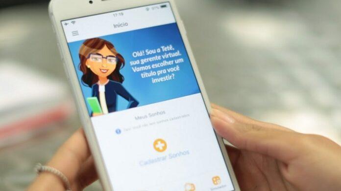 Aplicativo do Tesouro Direto na tela de um celular