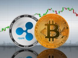 Criptomoedas Ripple ao lado do Bitcoin