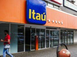 Fachada de uma unidade do banco Itaú