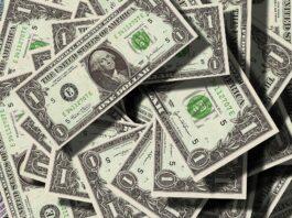 várias notas de dólar