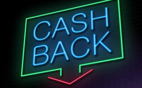 Banner de led escrito Cashback