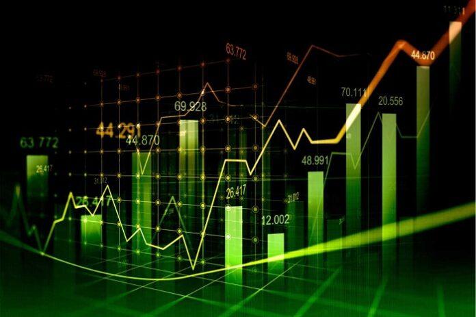 gráfico alta de ações