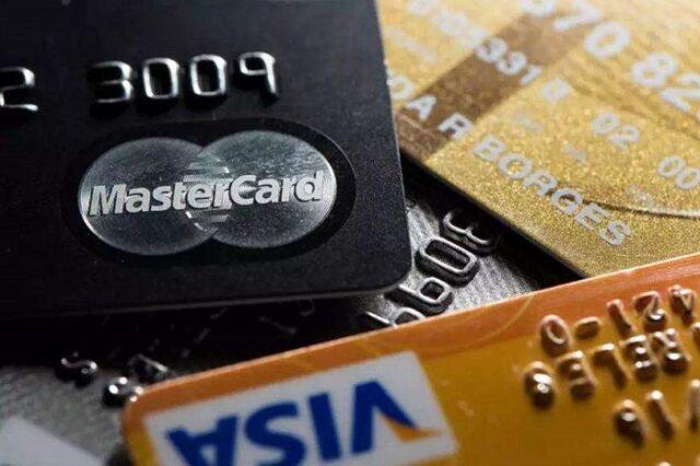 Cartões de crédito visa e mastercard black