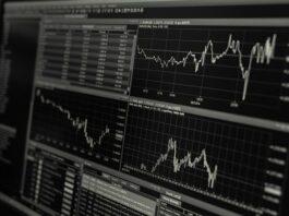 gráficos do mercado financeiro