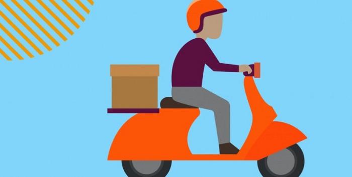 imagem de um motoboy de delivery