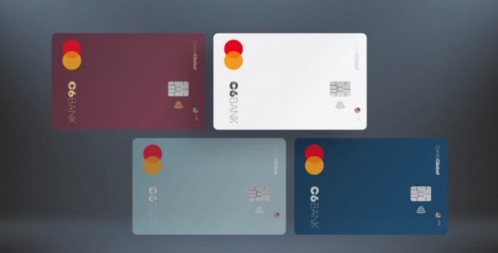 imagem de vários cartões do C6 Bank