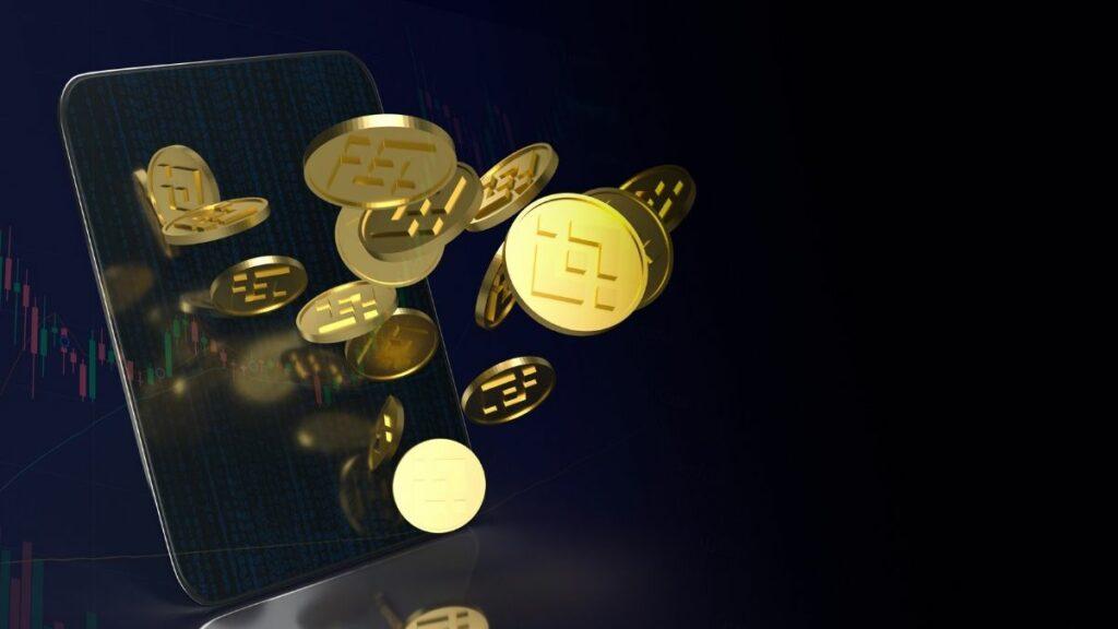 imagem de várias moedas binance coin
