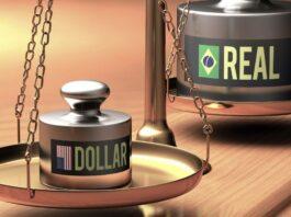 Balança simula desvalorização da moeda real em relação ao dólar