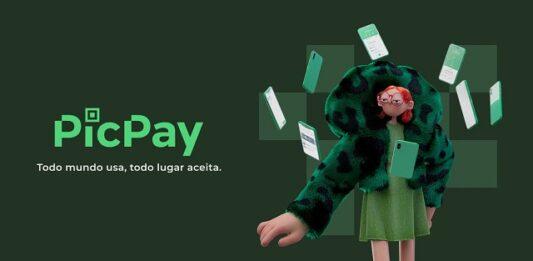 ilustração de uma menina ruiva de jaqueta verde com vários celulares verdes voando