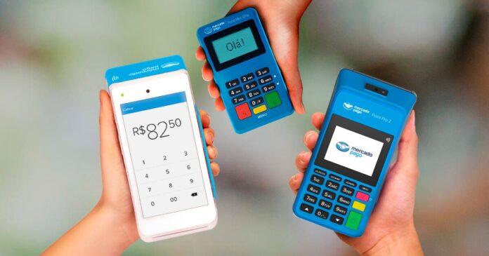 três máquinas do mercado pago