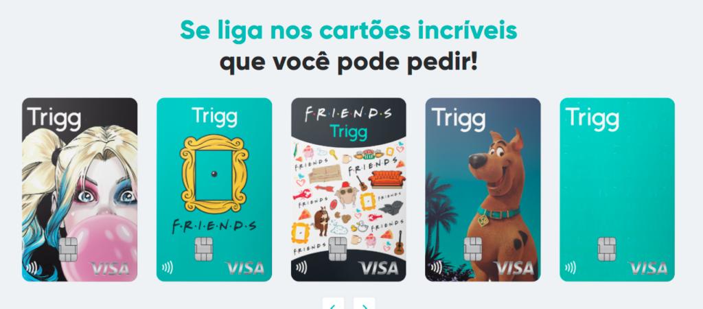 Cartões de crédito com cashback da Trigg