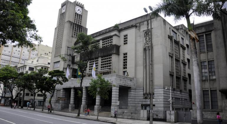 Facha da Prefeitura de Belo Horizonte, em Minas Gerais