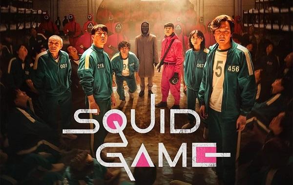 Pôster da série Round 6 mostra os personagens principais e o logo da produção